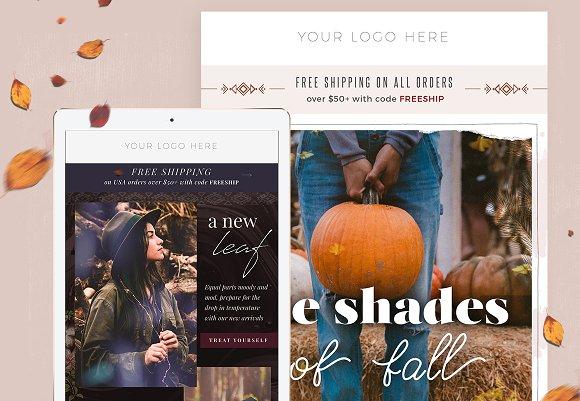 4 Fall Fashion Email Templates