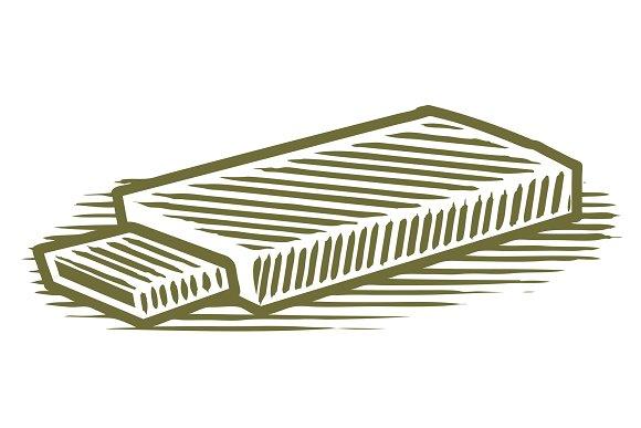 Woodcut Flash Drive