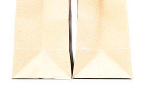 Two brown paper bag