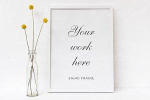 30x40 Floral Frame Mockup - wfr175