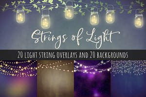 Strings of light overlays