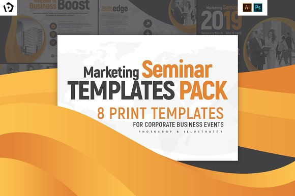 marketing seminar templates pack flyer templates creative market