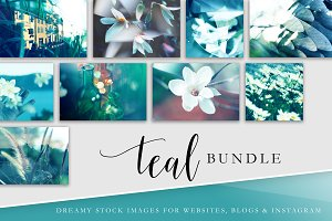 Stock Image Bundle | Teal