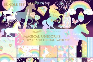 Magical Unicorns, Einhorn, Rainbow