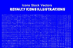 2700 Icons Stock Vectors
