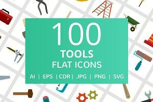 100 Tools Flat Icons
