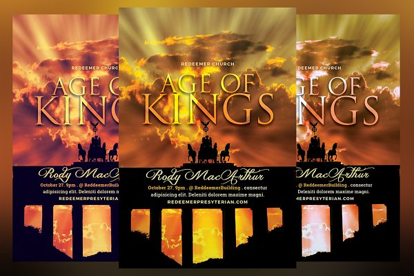 Age of Kings Church Flyer