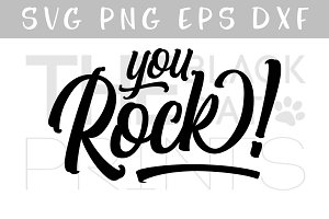 You Rock! SVG DXF PNG EPS