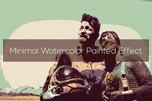 Minimal Watercolor Painted Effect