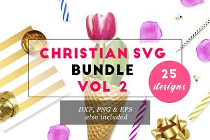 Christian SVG Bundle VOL 2 DXF PNG