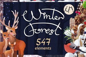 "❄ vector SET ""Winter Forest"""