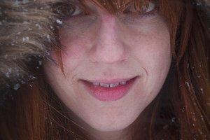 Girl Bundled Up in Winter