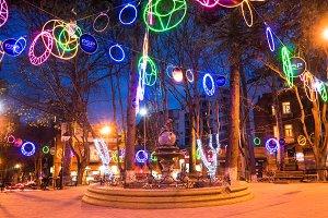 Christmas illumination in Tbilisi, G