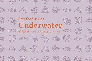 Underwater / food icons
