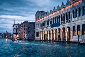 Grand Canal at night in Venice