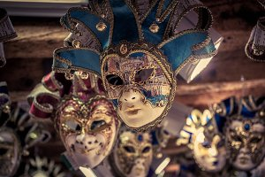 Traditional venetian masks