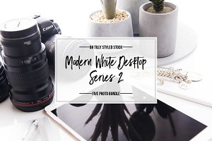 Modern White Desktop Photo Bundle S2