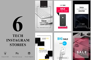 6 Tech Products Instagram Stories