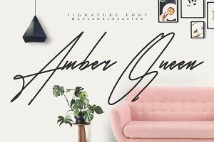 Amber Queen - Signature Font