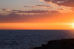 Beautiful sunset at the sea
