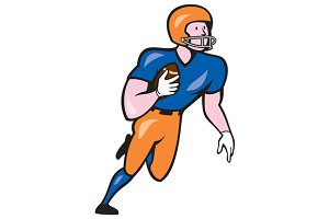 American Football Player Rusher Run
