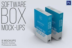 Software Box - 8 Mockups