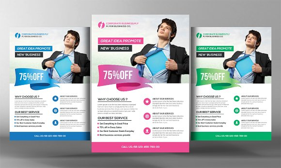 clean business flyer psd flyer templates creative market