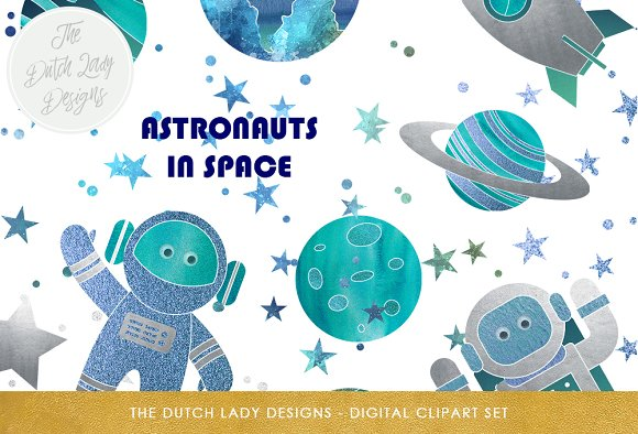 Space & Galaxy Clipart Set