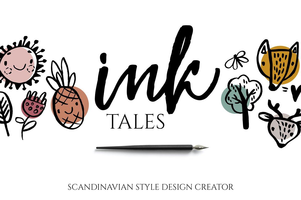 Scandinavian ink design creator in Illustrations