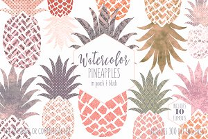 Peach Tropical Pineapple Clipart