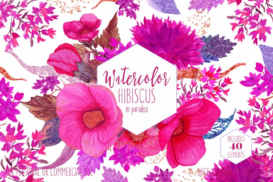 Paradise Tropical Watercolor Floral