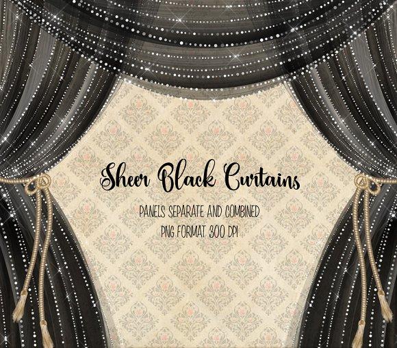 Sheer Black Curtain Overlays