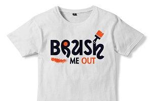 Casual Brushing T-shirt Design 07
