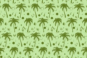 Tropical palm tree seamless pattern