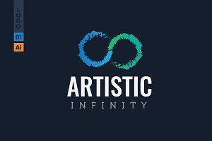 Artistic Infinity Logo Design
