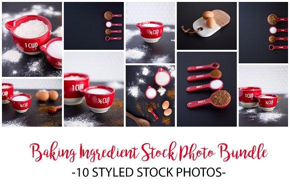 Baking Ingredient Stock Photo Bundle