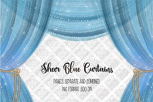 Sheer Blue Curtain