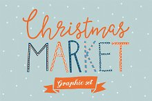 Christmas Market graphic set