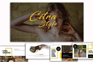 Citra Style Presentation Keynote