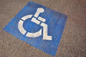 Disabled parking sign.