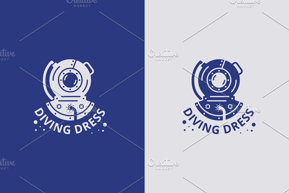 Vector Logo With Diving Suit