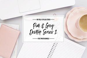 Pink & Grey Styled Desktop Bundle 2