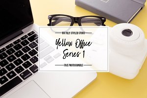 Yellow Styled Stock Photo Bundle S1
