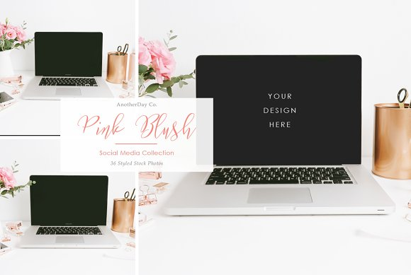 Macbook Styled Stock Photo in Product Mockups