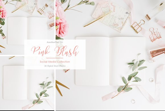 Pink Notebook Styled Stock Photo in Product Mockups