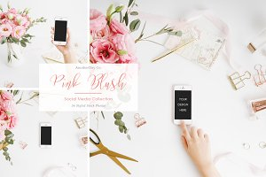 Pink Blush iPhone Styled Stock Photo