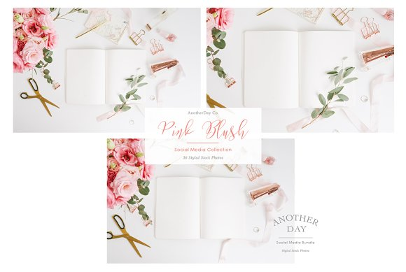 Pink Notebook Styled Stock Photo in Product Mockups - product preview 1