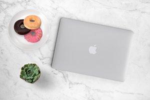 Donut & Laptop Styled Scene 26-0019