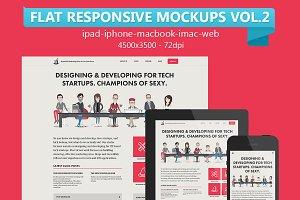12 Flat Responsive Mockups