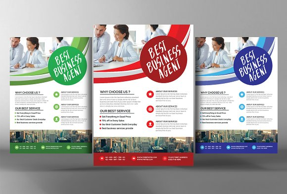 Best business agent flyer template flyer templates creative market best business agent flyer template flashek Image collections